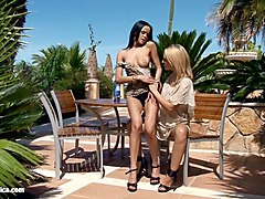 wild seduction with natie and angelina having orgasms