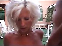Pierced blonde mature MILF with pussy piercings